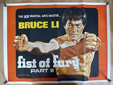 FIST OF FURY PART 2 (1976) - original UK quad film/movie poster,Bruce Li, kungfu