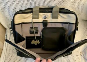 Large Classic *RADLEY* Black Leather Briefcase Laptop Work Bag