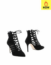 RRP €685 LE SILLA Leather Ankle Boots Size 38 UK 5 US 8 Caged HANDMADE in Italy
