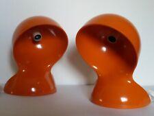 DALÚ pair of iconic table lamp orange ARTEMIDE Designer VICO MAGISTRETTI 1960s