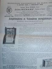 catalogue - dépliant - ampèremètres - voltmètres enregistreurs  ( ref 19 )