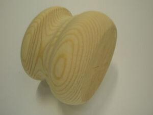 Pine Wood, Furniture Bun Feet 86 mm Dia x 62 mm tall