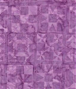Purple Squares on Lavender B/G-#4939-Batik Textiles-Fat Quarter
