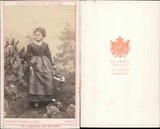 AD.Braun, canton des Grisons, costumes suisses Vintage CDV albumen carte de visi