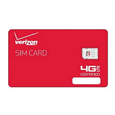 Verizon Wireless Nano 4G LTE Certified NFC 4FF SIM Card - Lot Of Ten(10) Card