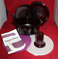 Tupperware Microwave Stack Cooker 6 Pieces 2192 Purple With Lid Pamphlet Purple
