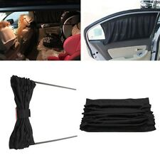 2x Black 70cm Adjustable VIP Car Window Mesh Interlock Curtain UV Sunshade Visor