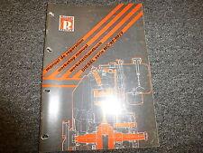 Ruccerini MC RF & RF/V Series Diesel Engine Shop Service Repair Manual