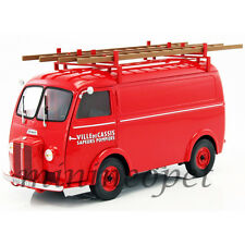 NOREV 184707 1955 PEUGEOT D4A with LADDERS POMPIERS 1/18 DIECAST MODEL CAR RED