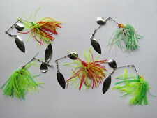 pêche carnassiers : lot de 5 spinnerbaits différents