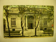 VINTAGE POSTCARD FRONT OF PUBLIC LIBRARY IN LIMA OHIO 1910.
