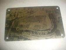 CINCINNATI  CROSLEY FIELD   Stadium seat PLAQUE