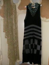 SUPERBE hebbeding ~ Quirky Design Lagenlook Mailles Fines Mohair Robe Longue ~ Bnwt £ 260