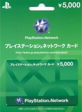 Sony Playstation Network PSN PSVITA PS3 Japan 5000 Yen Brand New