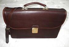 Vintage Coach Classic Retro Mahogany BROWN Business Attache Briefcase Bag RARE