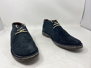 Kenneth Cole Mens Desert Sun Chukka Boot Navy Suede Size 11M US