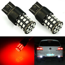 JDM ASTAR 2x 33SMD Red 7443 7440 AX-2835 LED Brake Turn Tail Marker Lights Bulbs