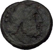 LUCERIA in APULIA 211BC Teruncis NEPTUNE DOLPHIN TRIDENT Greek Coin i46315