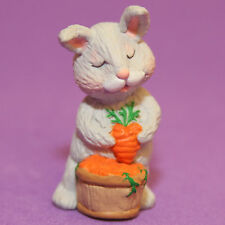 Hallmark Merry Miniatures Easter 1992 Bunny Holding Heart Carrot Qfm9201 Spring