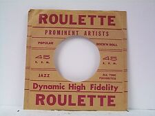 1- ROULETTE RECORD COMPANY 45's SLEEVES  LOT # A-172