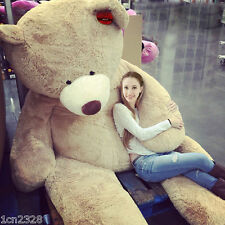 """200CM SUPER HUGE TEDDY BEAR (ONLY COVER) PLUSH TOY SHELL (WITH ZIPPER) 79"""" AAA"""