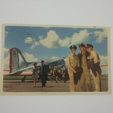 American Airlines In Flight Route of the Flagships Postcard 1945