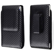 "6""Black PU Leather Belt Clip Phone Case Pouch Holster For  iPhone Xs Max/ 8 Plus"
