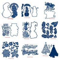 Snowmen Mistletoe Sled Metal Cutting Dies Album Scrapbooking Embossing Stencil