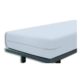 Elastic Cover Mattress Bed Protector Fully Enclosed Zipped 160x190/200cm White
