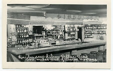 "MT Montana Alberton ""Lincoln's 4000 Silver Dollar Bar"" Unposted Real Photo RPPC"