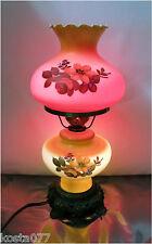"Gorgous Vintage Hurricane Style Electric Lamp, 1971 L&L WMC, 20"" tall"