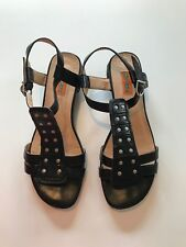 Miz Mooz Women's BLACK SANDALS  Shoes 9 PRE-OWNED