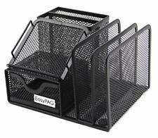 Mesh Office Supplies Desk Organizer Caddy With Drawer65 X 55 X 425inblack