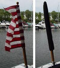 "Flag Cover Sheath for 20"" Flag Available in 16 Sunbrella Colors Medium Boat Flag"