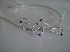 Serre tête bijou cheveux Mauve violet robe Mariée/Mariage/Cérémonie Musique
