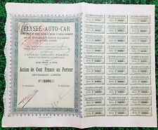 Dépt 75 - Frise Secteur Garages Modèles de Voitures & Bateaux Automobiles - 1906