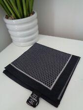 HUGO BOSS Black White Dot Cotton Pocket Square Handkerchief Hankie