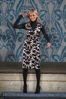 "Tory Burch ""Dayton"" Floral Velvet Jacquard Dress | Size 4 | Cream Purple"