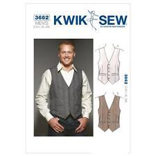 Kwik Sew Sewing Pattern Uomo Gilet Panciotto sixze S-XXL k3662