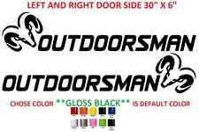 """(#627) 30"""" DODGE RAM OUTDOORSMAN DOOR STICKER"""