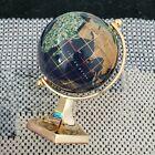 World Gemstone Globe gold Lapis colored
