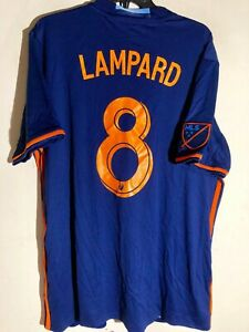 ADIDAS MLS NEW YORK CITY FC FRANK LAMPARD JERSEY SZ L  FORMER CHELSEA ICON