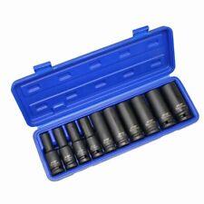 "US PRO DEEP IMPACT SOCKET Set 1/2""Dr 10pc 10mm-24mm 6pt Hex Long Reach Sockets"