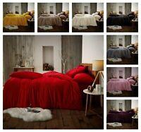 NEW TEDDY BEAR FLEECE Warm Cosy Soft Duvet Cover+PillowCase Bedding Set All Size