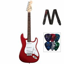 Squier Bullet Strat With Tremolo Fiesta Red - Includes Fender Strap & Picks NEW!