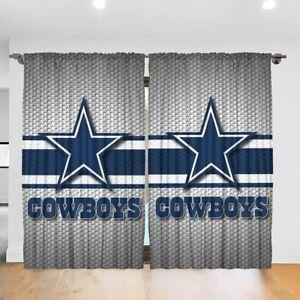 Dallas Cowboys 2PCS Blackout Curtain Panel Bedroom Living Room Window Drapes
