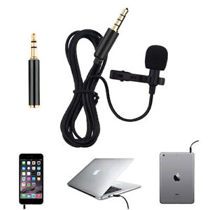P85C Lavalier Aufsteckmikrofon Mikrofon Adapte 3.5mm Smartphone Tablet PC Laptop