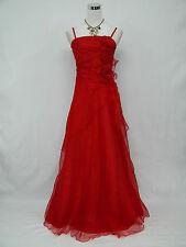 Cherlone Clearance Plus Size Red Ballgown Formal Wedding Evening Dress 18-20