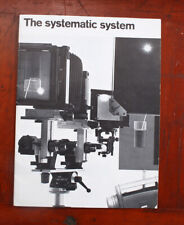 SINAR SYSTEM BROCHURE 500.22/3.73/50, 20 PAGES/211559