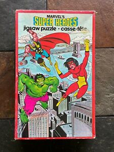 -VINTAGE 1980 MARVEL'S SUPER HEROES JIGSAW PUZZLE 300 PIECES ITEM #5867-MH
